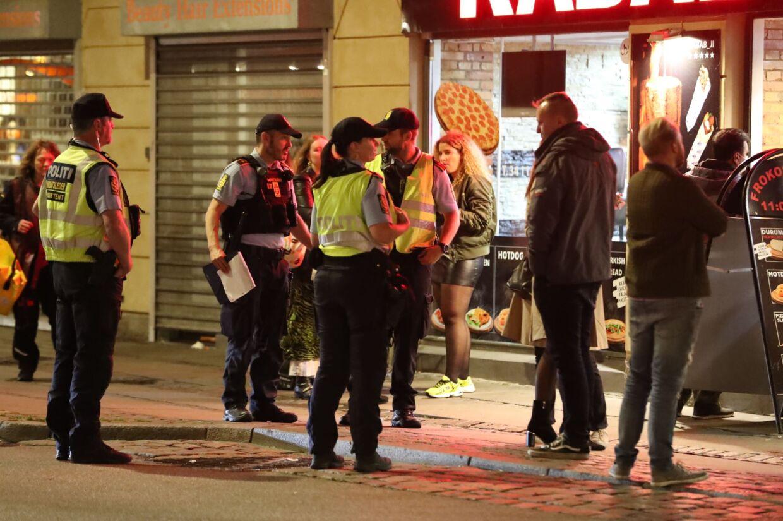 Der var meget politi på gaden for at holde øje med de unge i København.