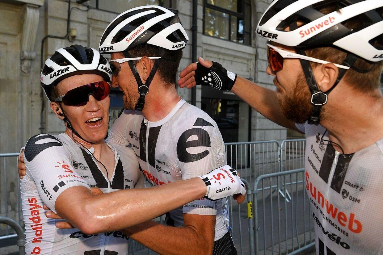Team Sunweb kørte lørdagens etape til perfektion, som Søren Kragh Andersen endte med at vinde.