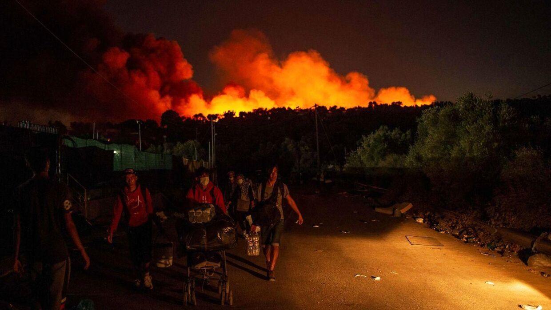 Tusindvis af migranter blev hjemløse, da Moria-lejren brændte ned tidligere på ugen.