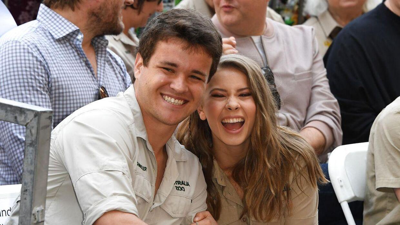 Her ses Chandler Powell og Bindi Irwin, inden de blev gift.