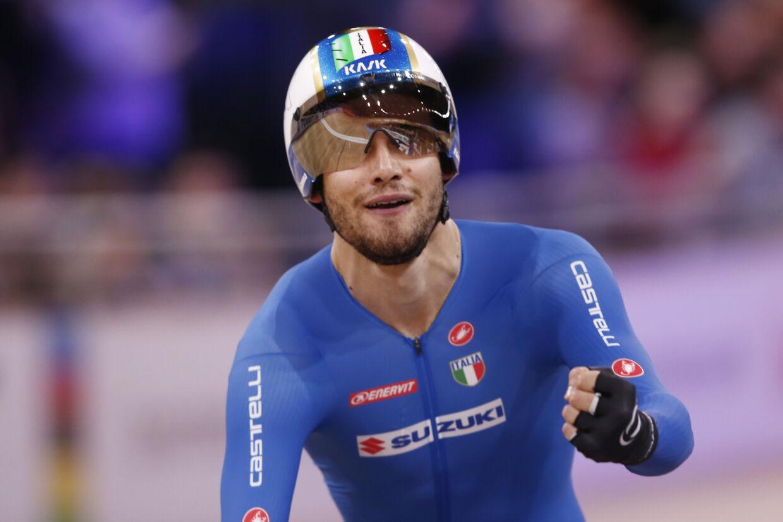 Filippo Ganna tog VM-guld i individuel forfølgelse ved VM i Berlin. Mandag vandt han en etape i Tirreno-Adriatico (Arkivfoto) Kacper Pempel/Reuters