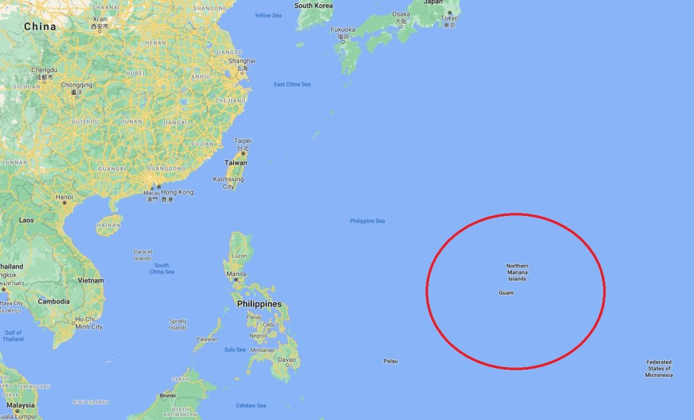 Den lille Stillehavsø Guam. Foto: Google Maps