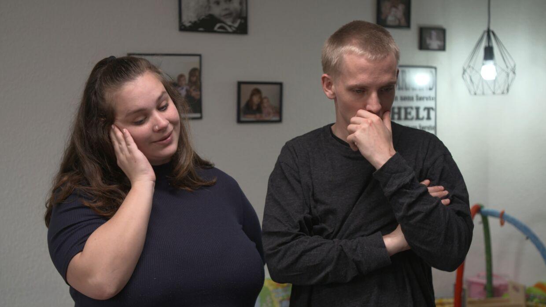 Det nu tidligere par reagerede i programmet meget forskelligt, da de blev præsenteret for regnskabstavlen.