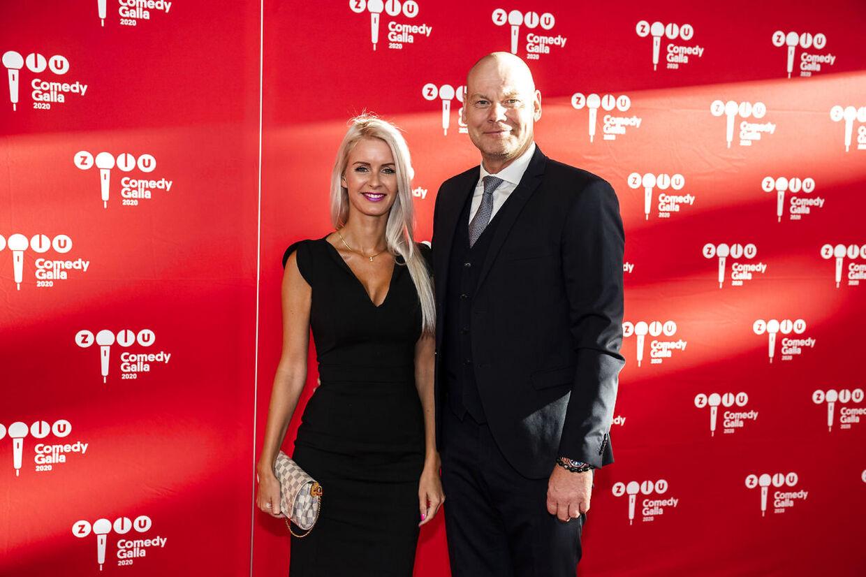 Andreas Bo med sin kæreste Katrine til 'Zulu Comedy Galla 2020'.