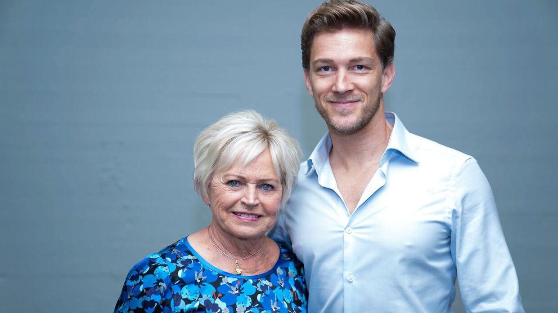 Sangerinde Hilda Heick og Michael Olesen til 'Vild med dans' pressemøde i København, tirsdag den 8. september 2020.