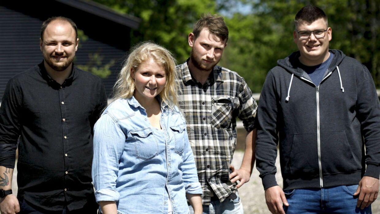 Daniel, Stine, Niels og Benjamin.