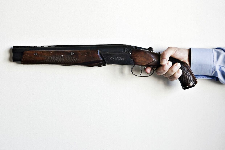 Oversavet jagtgevær.