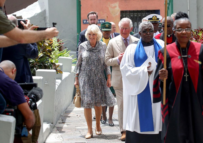 Prins Charles og hans hustru Camilla var på Barbados i marts sidste år.