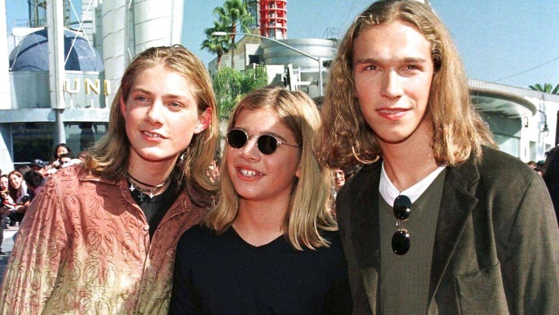 Taylor, Zac og Isaac Hanson til MTV Awards i 1997.