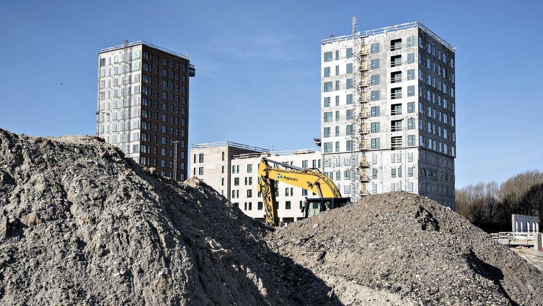 Arkivfoto af byggeplads