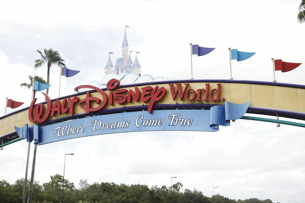 LAKE BUENA VISTA, FL - JULY 08: A view of the Walt Disney World theme park entrance on July 8, 2020 in Lake Buena Vista, Florida. The theme park is scheduled to reopen on Saturday despite a surge in new Covid-19 infections throughout Florida, including the central part of the state where Orlando is located. Octavio Jones/Getty Images/AFP == FOR NEWSPAPERS, INTERNET, TELCOS & TELEVISION USE ONLY ==