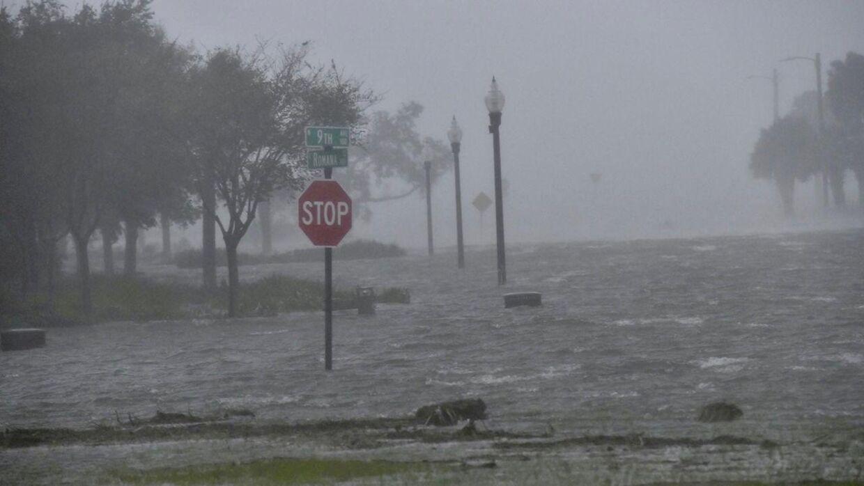 Byen Pensacola i det nordvestlige Florida er blandt de hårdest ramte.