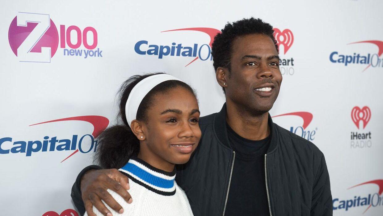 Chris Rock sammen med sin datter Zahra. I alt har han to børn.