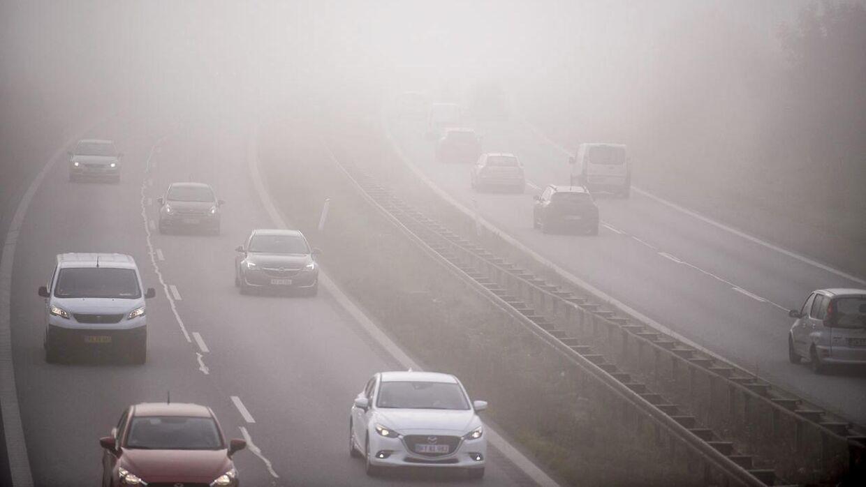 Arkivfoto. Danmark er lørdag morgen dækket af tåge flere steder.