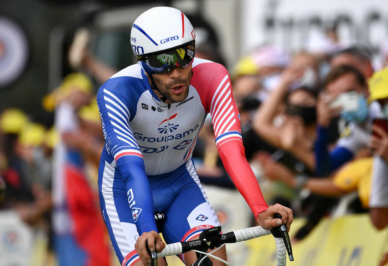 Cycling - Tour de France - Stage 20 - Lure to La Planche des Belles Filles - France - September 19, 2020. Groupama-FDJ rider Thibaut Pinot of France finishes. Pool via REUTERS/Marco Bertorello