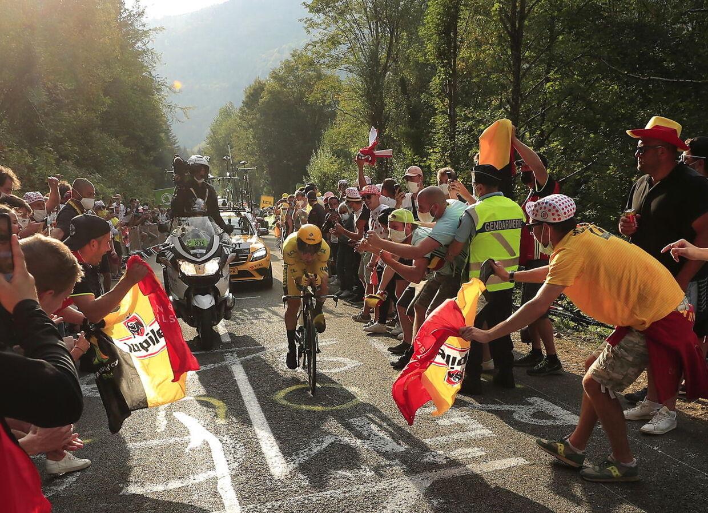 Der var godt pakket på Planche des Belles Filles, da Tour de France skulle afgøres på enkeltstarten lørdag.