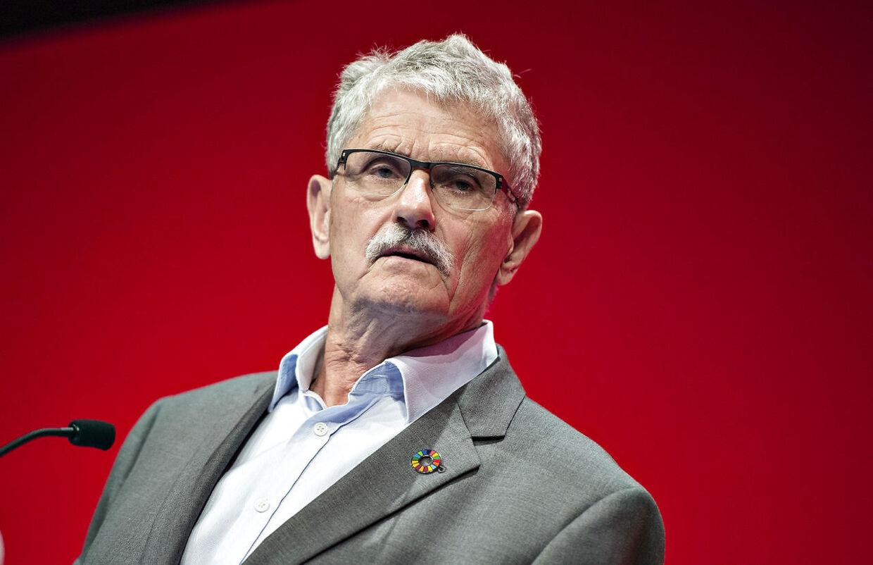 (ARKIV) Formand for FN's generalforsamling Mogens Lykketoft holdt tale på Socialdemokratiets kongres i Aalborg Kongres og Kulturcenter, søndag 25. september 2016. Han har haft de tungeste politiske poster, bortset fra én. Det lykkedes ikke Mogens Lykketoft at vælte Fogh af pinden. Nu forlader S-veteranen Folketinget. Det skriver Ritzau, onsdag 29. maj 2019. (Foto: Henning Bagger/Ritzau Scanpix)