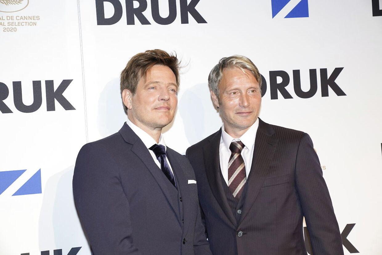 Thomas Vinterberg og Mads Mikkelsen ankommer. Zentropa og Nordisk Film holder gallapremiere og rød løber på Thomas Vinterbergs drama Druk i Nordisk Film Biografer Imperial, onsdag den 23. september 2020.