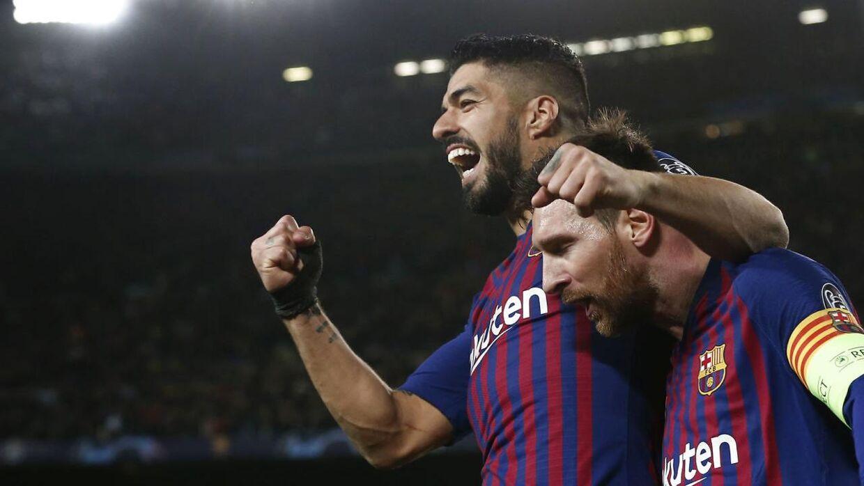 Luis Suarez og Lionel Messi nåede at spille seks sæsoner sammen i Barcelona.