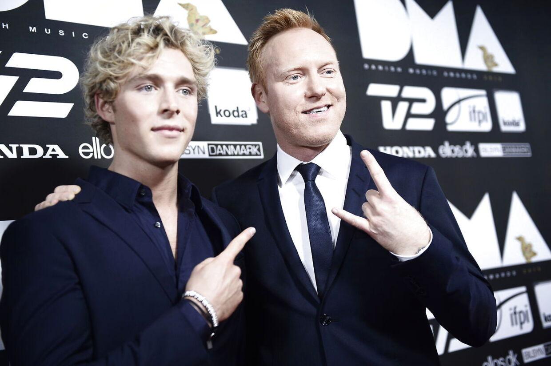 I 2015 var Anders Breinholt og Christopher værter til Danish Music Awards. Her fotograferet på den røde løber før showstart.