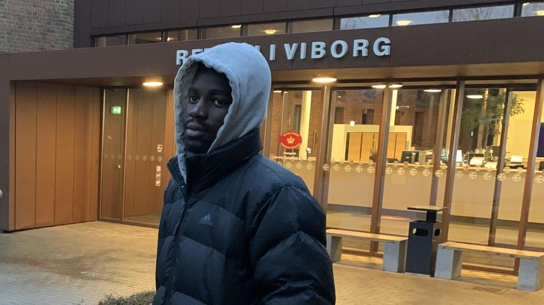Bernio Verhagen foran retten i Viborg, hvor sagen blev behandlet.