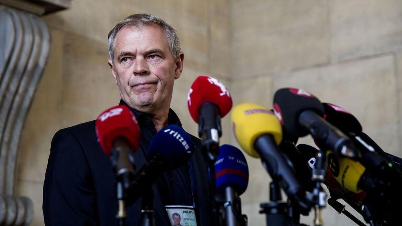 Nu tidligere drabschef Jens Møller fotograferet ved en af de mange pressebriefinger, der blev holdt på Politigården i 2017.