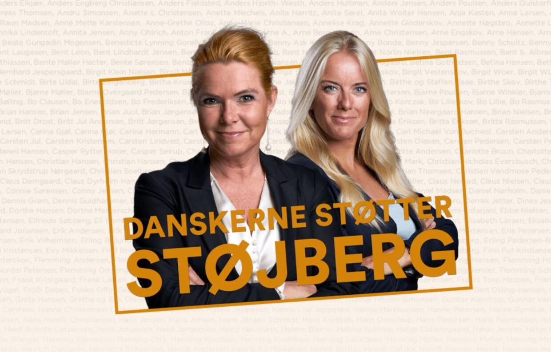 Pernille Vermund (NB) har overdraget En sæk med postkort som disse til Inger Støjberg (V).