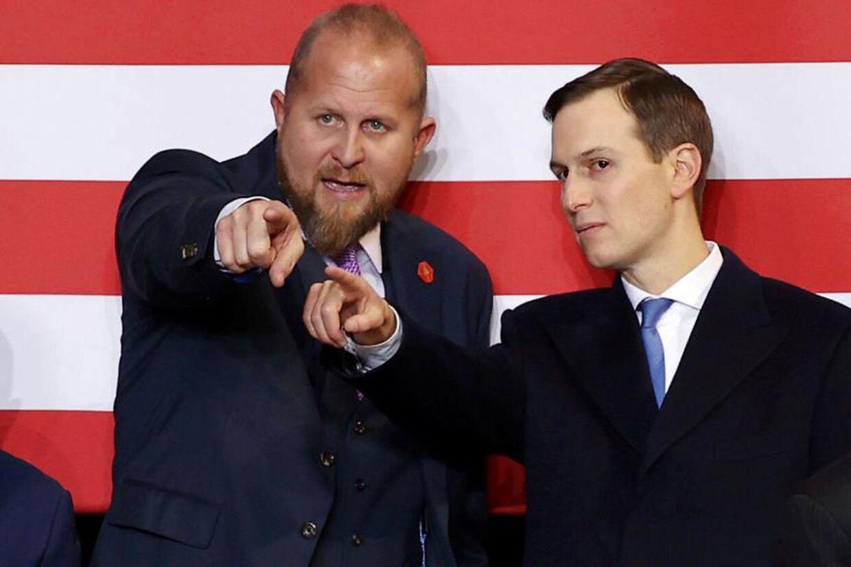 Højt at flyve. En selvsikker Brad Parscale side om side med præsidentens svigersøn og seniorrådgiver, Jared Kushner.