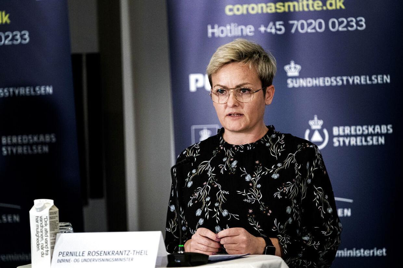 Børne- og undervisningsminister Pernille Rosenkrantz-Theil.