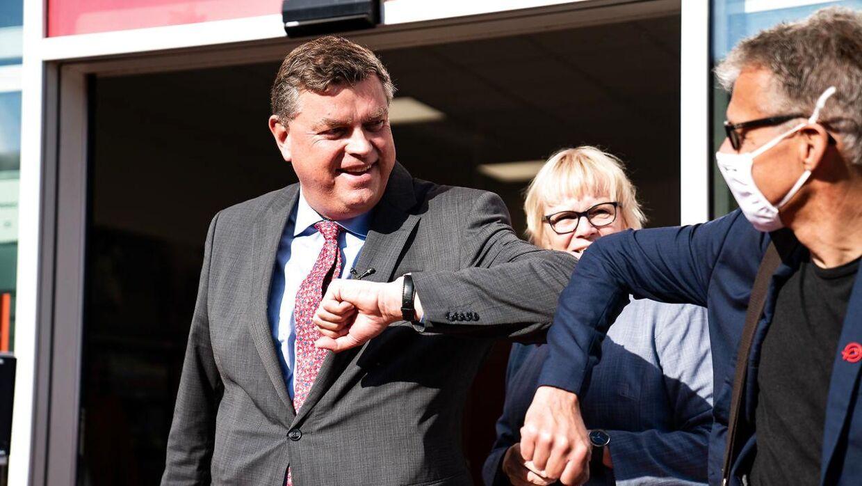 Fødevareminister Mogens Jensen (S) var også med ved åbningen af Wefood i Tingbjerg.