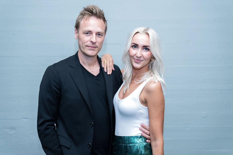 Tv-vært Kristian Bech og Mille Funk til 'Vild med dans' pressemøde i København, tirsdag den 8. september 2020. (Foto: Emil Helms/Ritzau Scanpix)