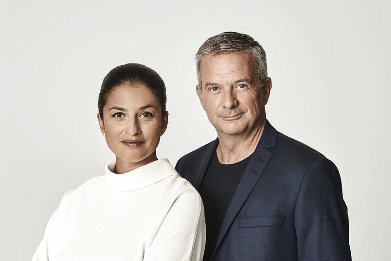 Divya Das og Kim Bildsøe Lassen fotograferet til coveret af deres nye bog 'Briterne og Brexit'.
