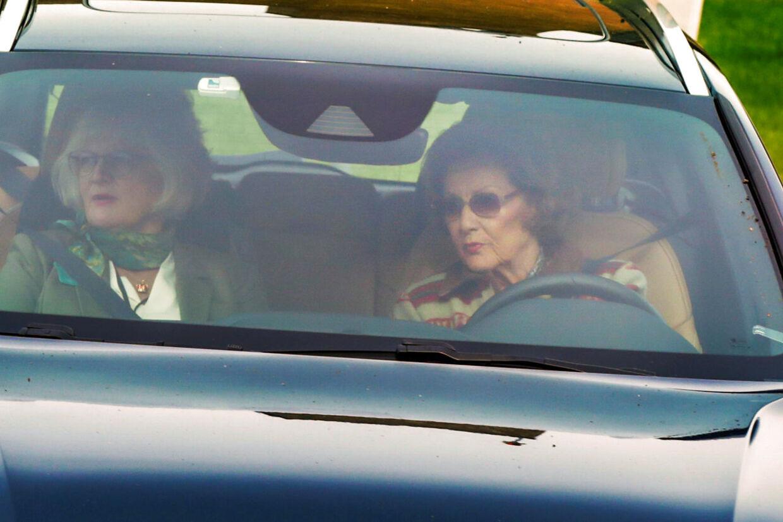 Dronning Sonja her fotograferet 25. september, hvor hendes ægtemand blev hasteindlagt med åndedrætsbesvær.