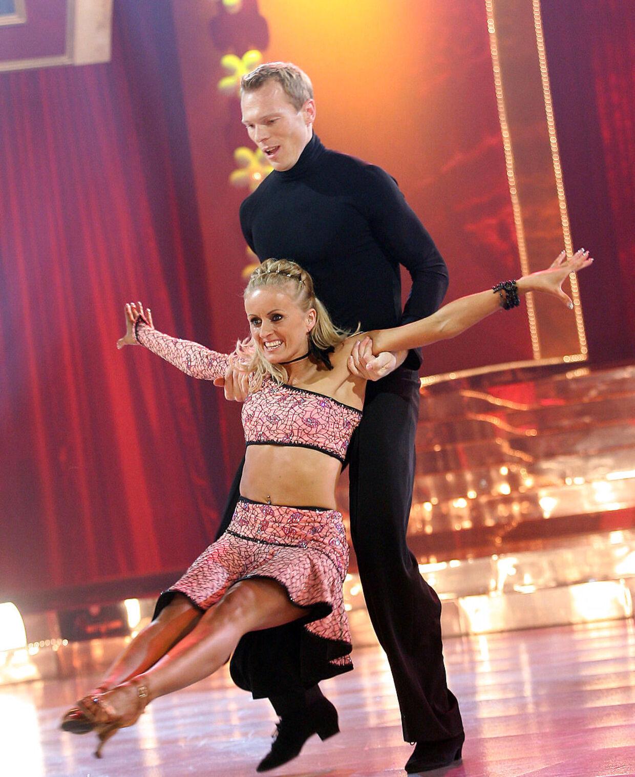 Marianne Eihilt og Eskild Ebbesen, da de dansede sammen i 2005.