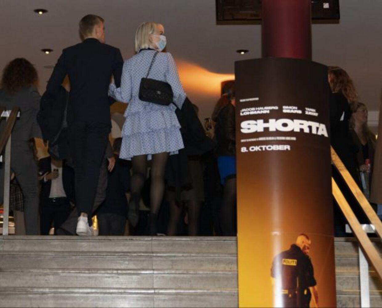 Albert og Jenna til premieren på filmen Shorta.