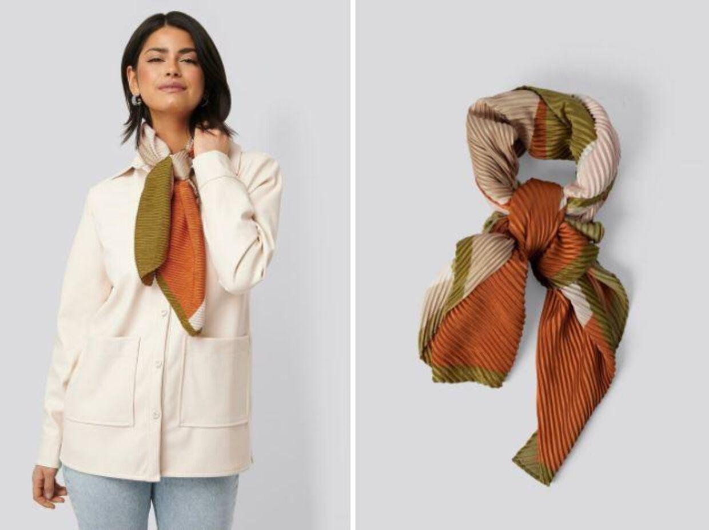 Shape neck scarf fra Mango