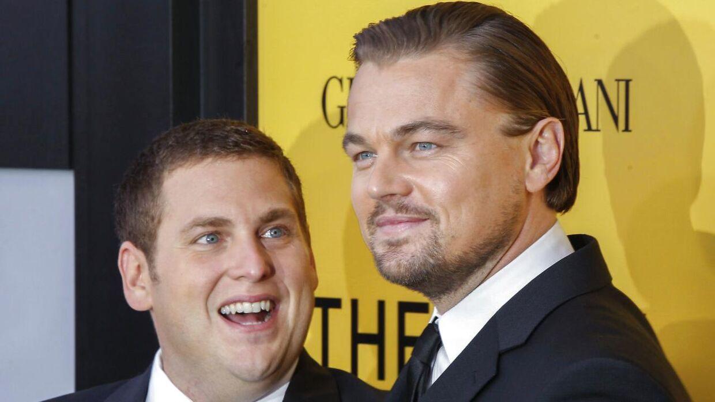 Leonardo DiCaprio og Jonah Hill havde hovedrollerne i 'The Wolf of Wall Street'.