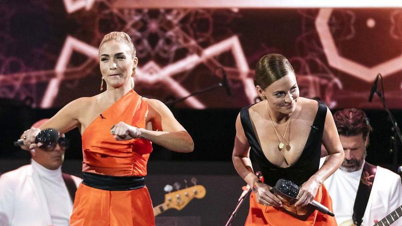 Værter Sarah Grünewald og Christiane Schaumburg-Müller er værter på 'Vild med dans'.