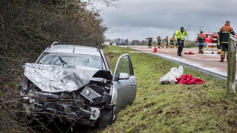 (Arkivfoto) Antallet af trafikulykker er gået den forkerte vej. Foto: Morten Stricker