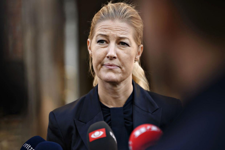Sofie Carsten Nielsen ses her udtale sig til pressen i Bibliotekshaven i København fredag den 9. oktober 2020. Sofie Carsten Nielsen dækkede over Østergaard i stedet for at tage opgøret, siger Ida Auken. Falske og partiskadelige påstande, svarer den nye radikale leder.