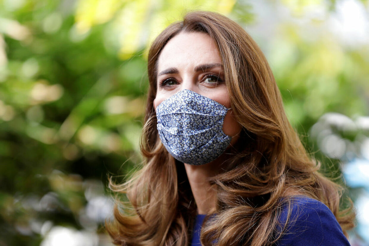 Britain's Catherine, the Duchess of Cambridge wearing a face mask to protect against the coronavirus disease (COVID-19), arrives to visit the Institute of Reproductive and Development Biology, at Imperial College in London, October 14, 2020. The Duchess of Cambridge visited the London research centre to hear about the work that national charity Tommy's are doing to reduce rates of miscarriage, stillbirth and premature birth. Kirsty Wigglesworth/Pool via REUTERS
