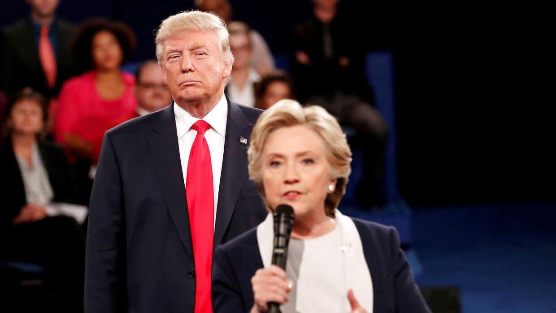 Donald Trump haltede længe bag Hillary Clinton i meningsmålingerne op til valget i 2016 men endte alligevel med at vinde.