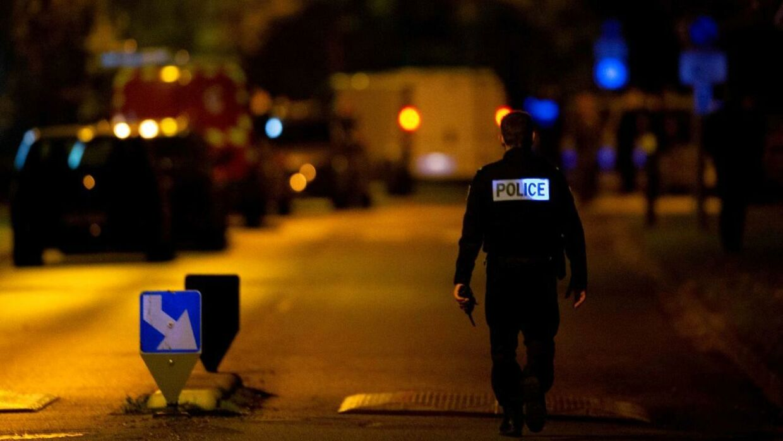 Gaden, hvor den 18-årige gerningsmand blev skudt og dræbt fredag.