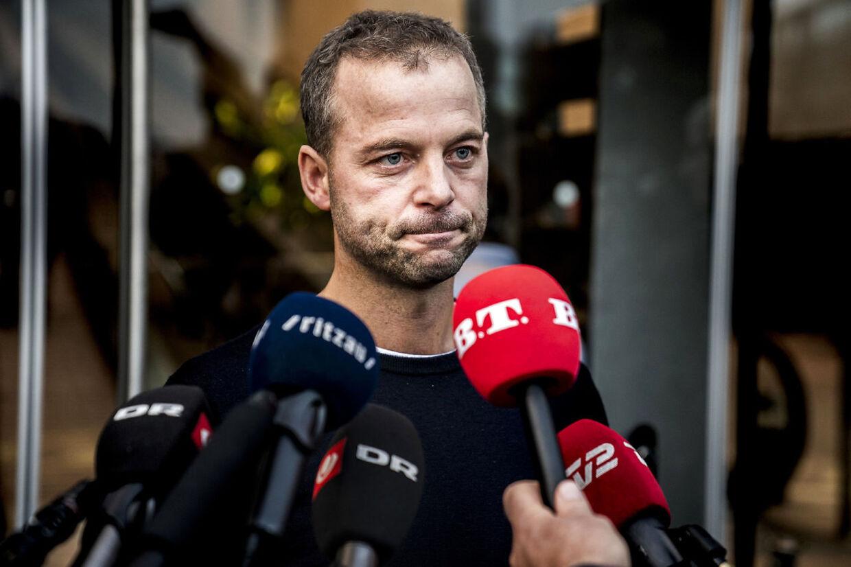 Morten Østergaard meldte den 8. oktober sin afgang efter gruppemøde i den Sorte Diamant København. Han blev væltet, fordi han ikke havde talt sandt om den krænkelse af Lotte Rod, som han selv stod bag. (Foto: Martin Sylvest/Ritzau Scanpix)