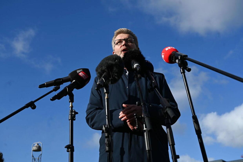 Overborgmester Frank Jensen holder pressemøde på Islands Brygge i København mandag 19. oktober 2020. Frank Jensen træder tilbage som overborgmester og som næstformand i Socialdemokratiet, meddelte han på pressemødet.