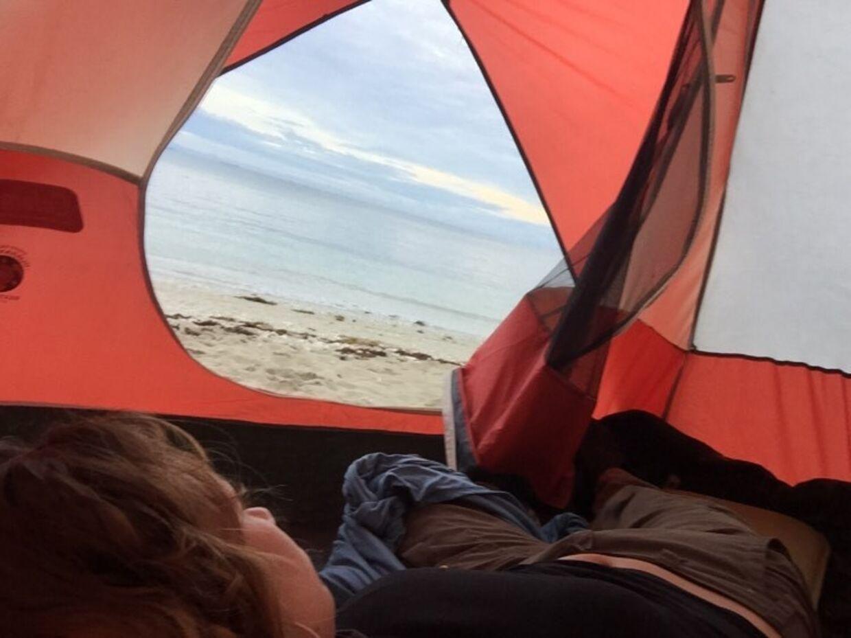 Rikke Gøransson vågnede til noget af en udsigt under sit ophold på den øde ø.