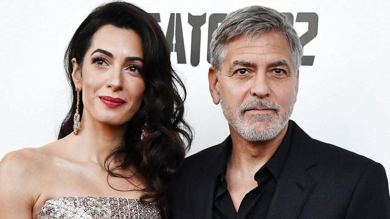 George Clooney og hans hustru, Amal Alamuddin.
