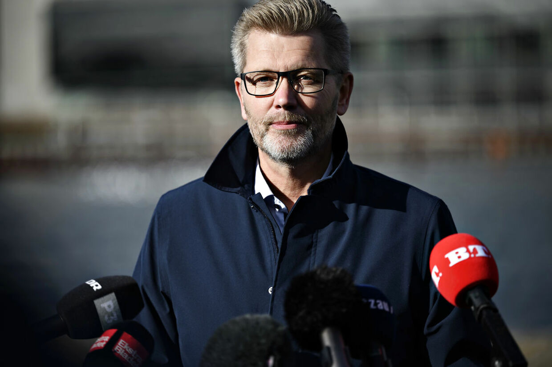 Overborgmester Frank Jensen (S) holder pressemøde på Islands Brygge i København mandag 19. oktober 2020. Frank Jensen træder tilbage som overborgmester og som næstformand i Socialdemokratiet, meddelte han på pressemødet. (Foto: Philip Davali/Ritzau Scanpix)
