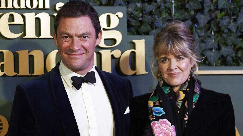 Dominic West med sin hustru, Catherine Fitzgerald.