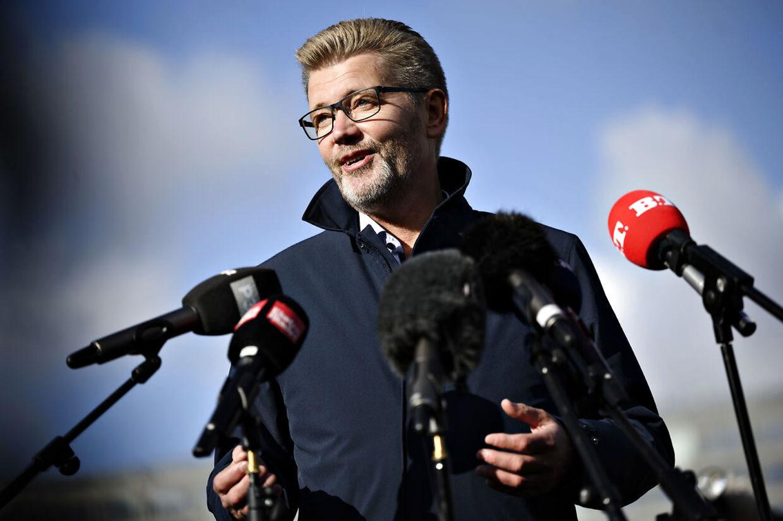 Overborgmester Frank Jensen (S) holder pressemøde på Islands Brygge i København, mandag den 19. oktober 2020. Frank Jensen træder tilbage som overborgmester og som næstformand i Socialdemokratiet, meddelte han på pressemødet.